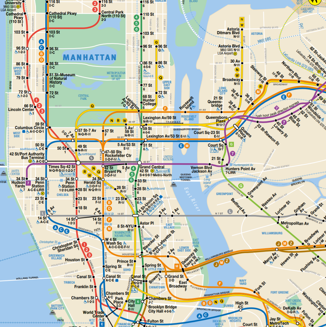 nyc subway mapping